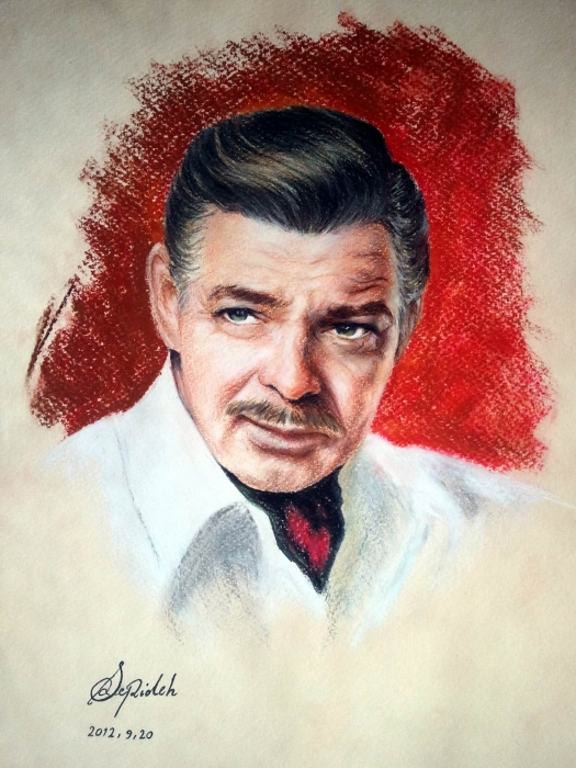 Clark Gable by 3pde